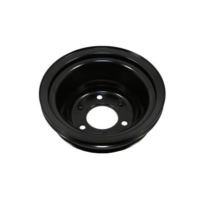 Cooling - Pulleys, Belts & Kits - Assault Racing Products - BBC Chevy 3 Groove Black Crankshaft Pulley For Long Water Pump - 396 427 454
