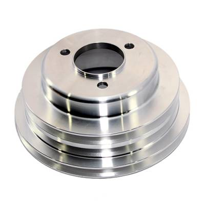 Cooling - Pulleys, Belts & Kits - Assault Racing Products - BBC CHEVY 3V Aluminum Crank Pulley Long Water Pump 454