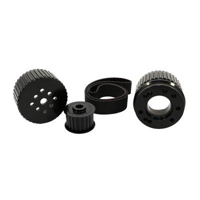 Cooling - Pulleys, Belts & Kits - Assault Racing Products - BBF Big Block Ford Billet Black Aluminum Gilmer Belt Drive Pulley Kit 429 460