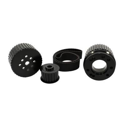 Cooling - Pulleys, Belts & Kits - Assault Racing Products - BBF Big Block Ford Billet Black Aluminum Gilmer Belt Drive Pulley Kit 429 460