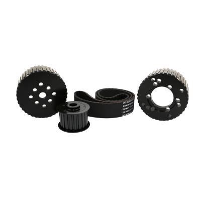 Cooling - Pulleys, Belts & Kits - Assault Racing Products - BBM Big Block Mopar Black Billet Aluminum Gilmer Belt Drive Pulley Kit 383 440