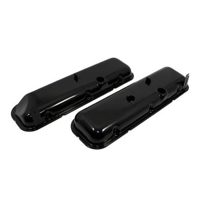 Valve Covers & Accessories - Street Valve Covers  - Assault Racing Products - Big Block Chevy 396 427 454 Black OEM Valve Covers w/ Corner Recess for Vette