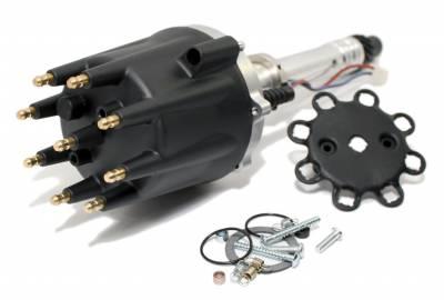 Black Small Big Block Chevy V8 Pro Billet Distributor SBC BBC 350 454 Mech Adv