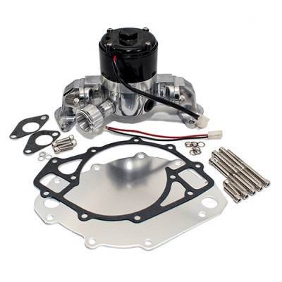 Cooling - Water Pumps - Assault Racing Products - Big Block Ford 429 460 Electric High Volume HV Chrome Water Pump
