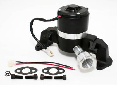 Cooling - Water Pumps - Assault Racing Products - Big Block Ford 429 460 Electric High Volume HV Water Pump Billet Aluminum Black