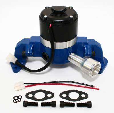 Cooling - Water Pumps - Assault Racing Products - Big Block Ford 429 460 Electric High Volume HV Water Pump Billet Aluminum Blue