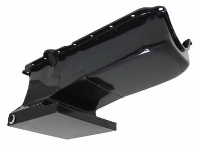 Oil Pans - Drag Racing Oil Pans - Assault Racing Products - Black 6QT Drag Racing Oil Pan For 62-67 Chevy II Nova 86-02 SBC 283-400 V8