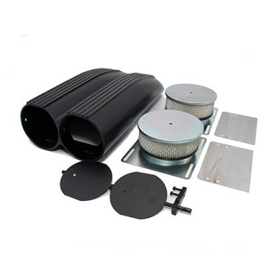 Air Filters & Cold Air Intakes - Air Cleaner Assemblies & Accessories - Assault Racing Products - Black Powder Coated Aluminum Finned Shotgun Intake Air Scoop Single & Dual Carb