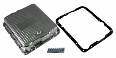 Transmission & Drivetrain - Transmission Oil Pan & Components - Assault Racing Products - GM Chevy 700R4 4L60E Polished Aluminum Transmission Pan Kit w/ Bolts Gasket