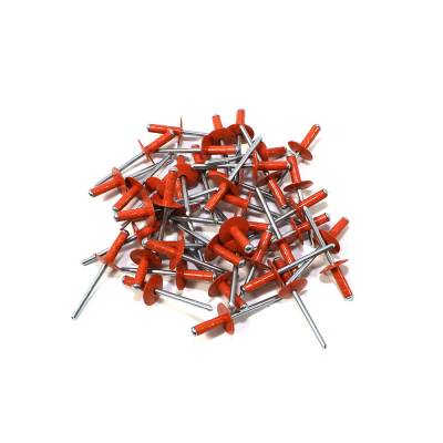 "Assault Racing Products - Box of 250 Multi Grip Orange Finish 3/16"" Dia. Large Head Aluminum Rivets"