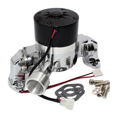 Cooling - Water Pumps - Assault Racing Products - Assault Racing Chrome Electric Water Pump Small Block Chevy 327 350 383 400 SBC