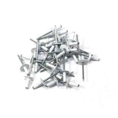 "Assault Racing Products - Box of 250 Multi Grip White Finish 3/16"" Dia. Large Head Aluminum Rivets"