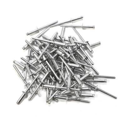 "Body Components - Rivets & Fasteners - Assault Racing Products - Box of 250 Open End Mill (Silver) Finish 3/16"" Dia. Small Head Aluminum Rivets"