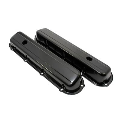"""Valve Covers & Accessories - Street Valve Covers  - Assault Racing Products - Cadillac 1968-1984 368 425 472 500 V8 Black Steel Valve Covers 2-13/16"""" Tall"""