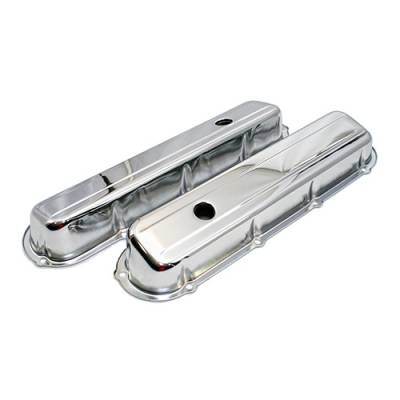 "Valve Covers & Accessories - Street Valve Covers  - Assault Racing Products - Cadillac 1968-84 368 425 472 500 V8 Chrome Steel Valve Covers 2-13/16"" Tall"