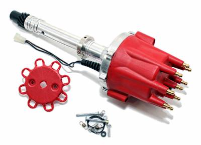 Distributors & Components - Distributors - Assault Racing Products - Chevy Big & Small Block 350 454 HEI Distributor 65K Coil Red Cap w/ Tach Drive