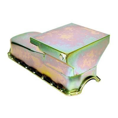 Oil Pans - Drag Racing Oil Pans - Assault Racing Products - CHEVY II SB NOVA DRAG RACING OIL PAN 283 350 SBC ZINC