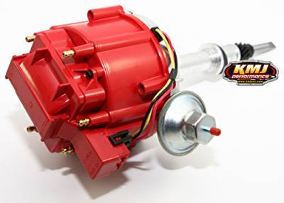 Distributors & Components - Distributors - Assault Racing Products - Chevy Late Inline 6 Cylinder Six HEI Distributor 230 250 292 Red 65K Coil