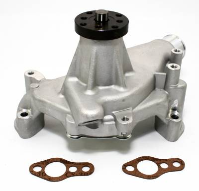 "Cooling - Water Pumps - KMJ Performance Parts - Small Block Chevy 350 High Volume Long Aluminum Water Pump Natural 5/8""; Pilot"