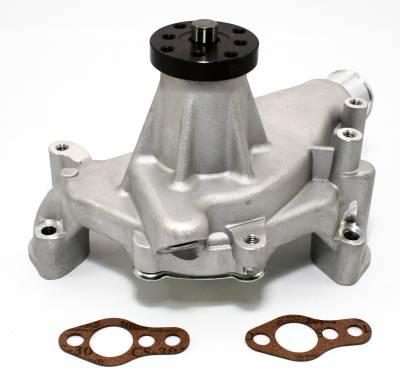 "Cooling - Water Pumps - KMJ Performance Parts - Small Block Chevy 350 High Volume Long Aluminum Water Pump Natural 5/8""; Pilot"