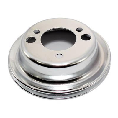 Cooling - Pulleys, Belts & Kits - Assault Racing Products - Chrome Add On A/C Crank Pulley - SBC or BBC Chevy with Short Water Pumps 350 454