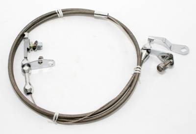 Transmissions, Rearends, & Gears  - Transmissions & Accessories - Assault Racing Products - Chevy GM Turbo 350 Transmission Stainless Kickdown Cable Assembly TH350