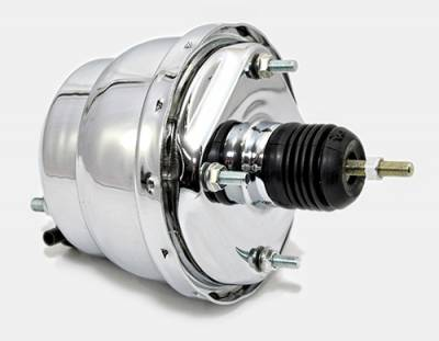 Brakes - Brake Accessories - Assault Racing Products - Chrome Vacuum Reservoir Brake Booster Canister with Check Valve and Hardware