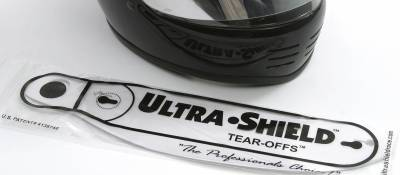 Ultra Shield Race Products - Box of 200 Visor Tear-offs 01201 Simpson Side Pro 11.5in on Center Straight