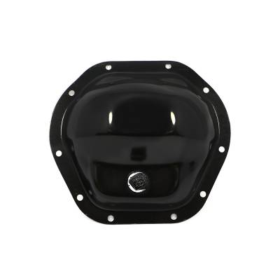 Transmissions, Rearends, & Gears  - Differential Covers - Assault Racing Products - Dana 44 Black Plated Steel Differential Cover Ford Chevy Dodge Jeep Front Rear