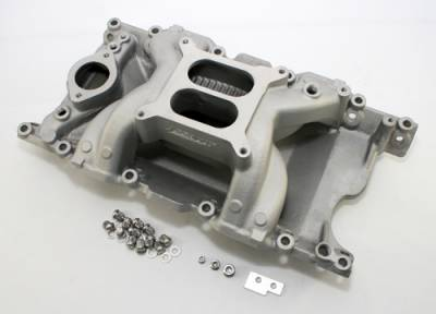 Intake Manifolds - Carbureted Intake Manifolds - Assault Racing Products - Dodge MOPAR Plymouth 340 360 Magnum Air Gap Dual Plane Aluminum Intake Manifold