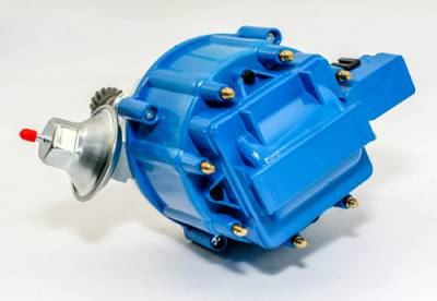 Distributors & Components - Distributors - Assault Racing Products - Ford 351C 351M 400 429 460 HEI Distributor 65 000 KV Coil 7500 RPM Module Blue