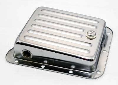Transmission & Drivetrain - Transmission Oil Pan & Components - Assault Racing Products - Ford C4 Chrome Steel Automatic Transmission Pan Case Fill - Stock Capacity