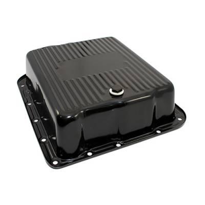 Transmission & Drivetrain - Transmission Oil Pan & Components - Assault Racing Products - GM 700R4 4L60E Black Deep Transmission Pan Extra Cap 4L60 4L65E Automatic Trans