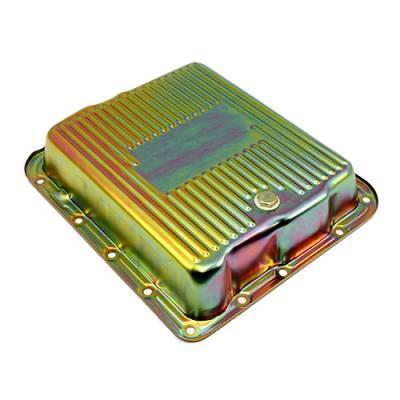 Transmission & Drivetrain - Transmission Oil Pan & Components - Assault Racing Products - GM 700R4 4L60E Zinc Transmission Pan Stock Capacity Automatic Trans 4L60 4L65E