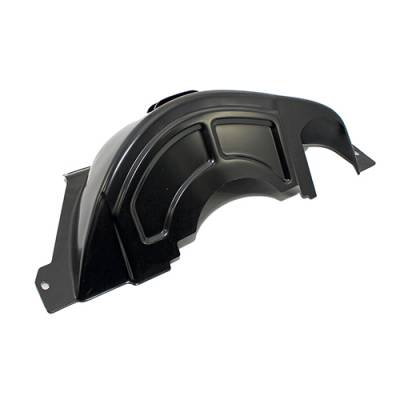 Transmission & Drivetrain - Transmissions & Accessories - Assault Racing Products - GM Chevy 700R4 Black Steel Transmission Flexplate Flywheel Cover Dust Shield