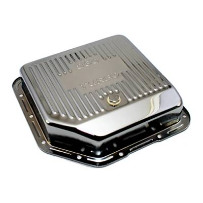 Transmission & Drivetrain - Transmission Oil Pan & Components - Assault Racing Products - GM Chevy Turbo 350 Chrome Deep Transmission Pan - Extra Capacity Automatic TH350