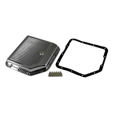 Transmission & Drivetrain - Transmission Oil Pan & Components - Assault Racing Products - GM Chevy Turbo 350 Polished Aluminum Transmission Pan Kit w/ Bolts Gasket TH350