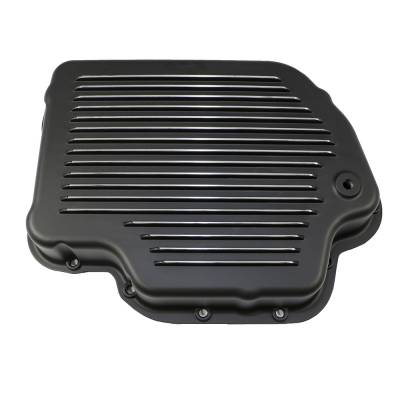 Transmission & Drivetrain - Transmission Oil Pan & Components - Assault Racing Products - GM Chevy Turbo 400 Black Aluminum Transmission Pan Kit Gasket Bolts - TH400
