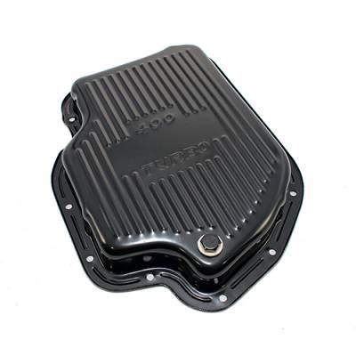 "Transmission & Drivetrain - Transmission Oil Pan & Components - Assault Racing Products - GM Chevy Turbo 400 Black Automatic Transmission Pan - Stock Depth 1-7/8"" TH400"