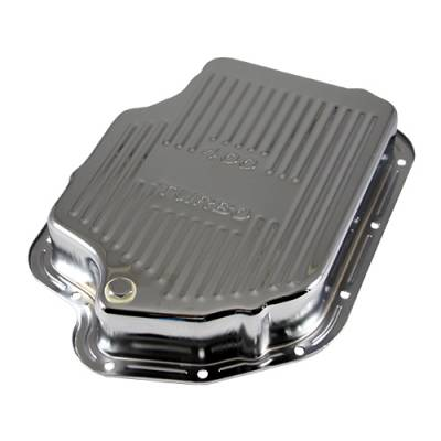 Transmission & Drivetrain - Transmission Oil Pan & Components - Assault Racing Products - GM Chevy Turbo 400 Chrome Automatic Transmission Deep Pan - Extra Capacity TH400