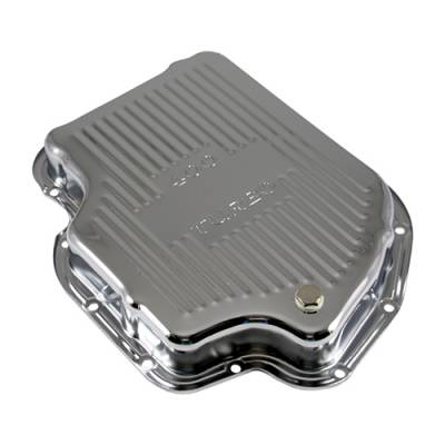Transmission & Drivetrain - Transmission Oil Pan & Components - Assault Racing Products - GM Chevy Turbo 400 Chrome Automatic Transmission Pan - Stock Capacity TH400
