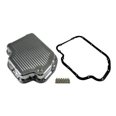 Transmission & Drivetrain - Transmission Oil Pan & Components - Assault Racing Products - GM Chevy Turbo 400 Polished Aluminum Transmission Pan Kit Gasket Bolts - TH400