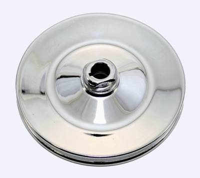 Cooling - Pulleys, Belts & Kits - Assault Racing Products - GM Power Steering Chrome Steel Pulley Chevy Single Groove 5/8 Keyway Saginaw