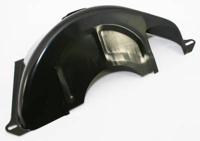 Transmission & Drivetrain - Transmissions & Accessories - Assault Racing Products - GM Turbo 350 400 Black Flexplate Flywheel Cover GM TH350 TH400 Dust Shield