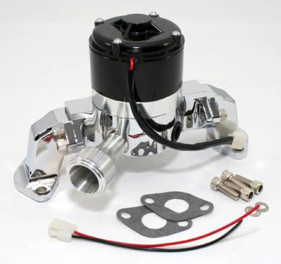 Cooling - Water Pumps - Assault Racing Products - High Performance Aluminum Electric Water Pump Big Block Chevy 396 427 454 Chrome