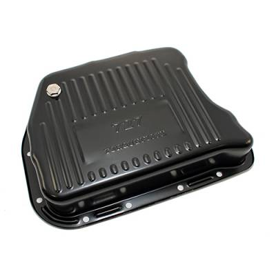 "Transmission & Drivetrain - Transmission Oil Pan & Components - Assault Racing Products - Mopar Chrysler Dodge 727 Torqueflite EDP Black Auto Transmission Pan 3"" Deep"