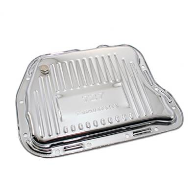 Transmission & Drivetrain - Transmission Oil Pan & Components - Assault Racing Products - Mopar Chrysler Dodge 727 Torqueflite Chrome Automatic Transmission Pan Stock Cap