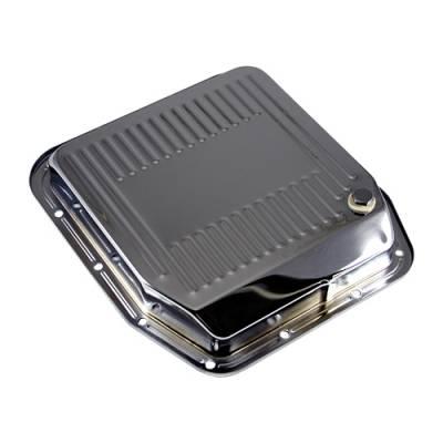 "Transmission & Drivetrain - Transmission Oil Pan & Components - Assault Racing Products - Mopar Chrysler Dodge 727 Torqueflite Chrome Auto Transmission Pan 3"" Deep"