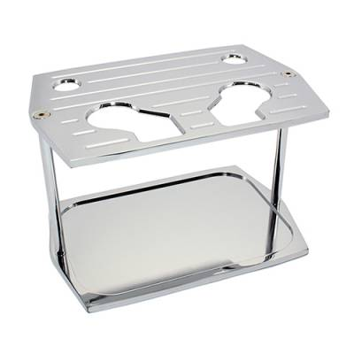 Batteries & Accessories - Battery Mounting - Assault Racing Products - Optima Group 34 78 Milled Chrome Aluminum Battery Hold Down Tray Red Yellow Top