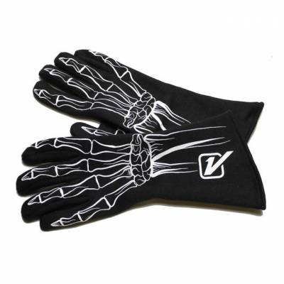 Velocita - Velocita WHITE SINGLE LAYER Safety Driving Gloves Racing Skeleton SFI